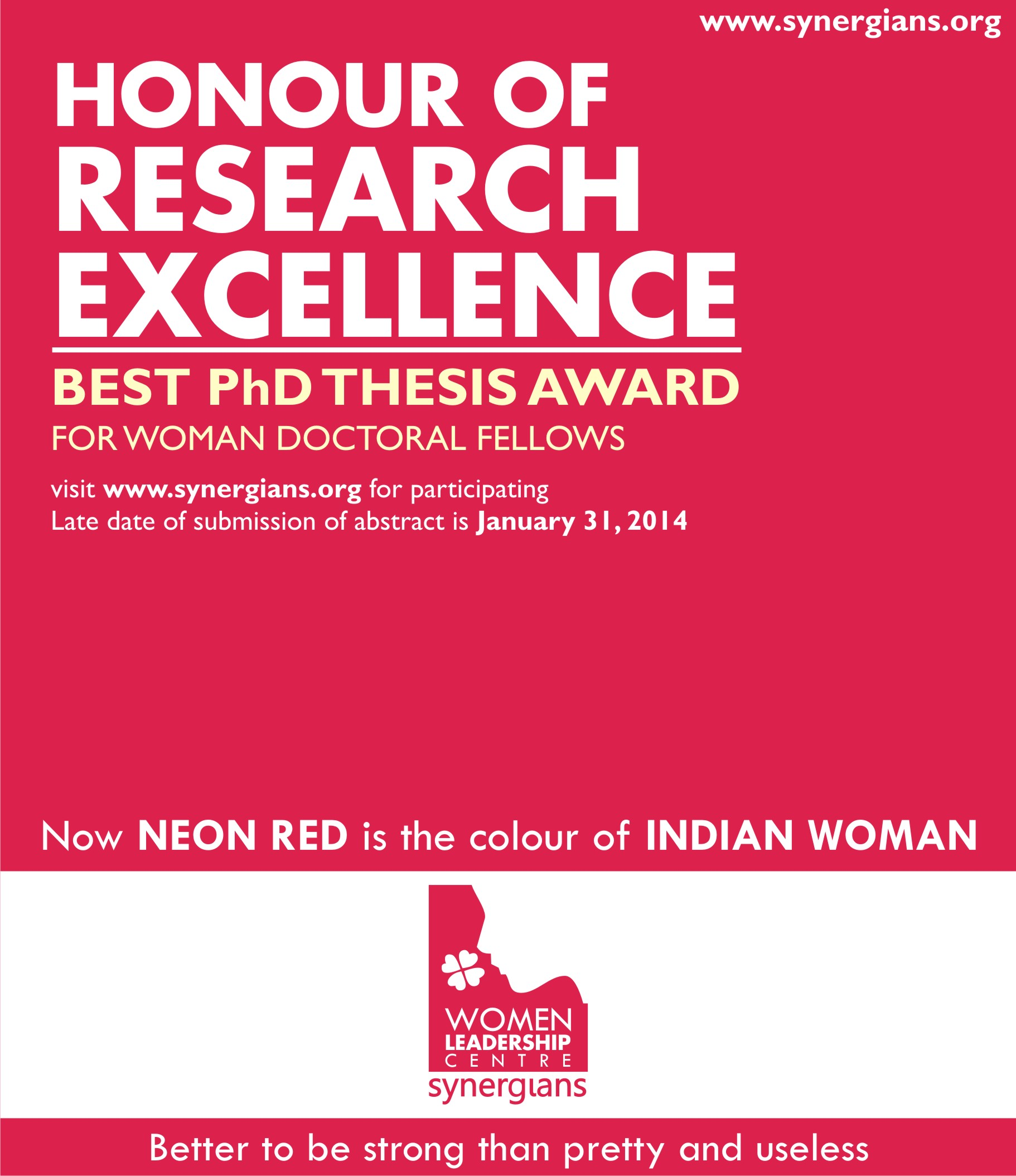 Best phd thesis award india